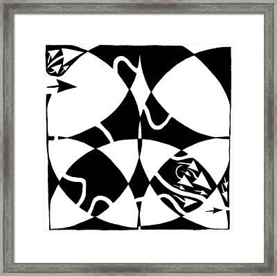 Rorschach Maze Framed Print by Yonatan Frimer Maze Artist