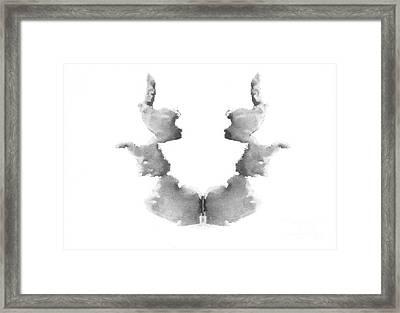 Rorschach Test Card No. 7 Framed Print