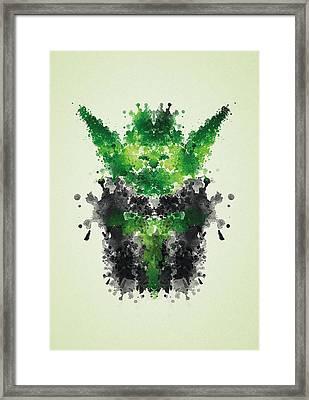 Rorschach Yoda Framed Print by Philipp Rietz