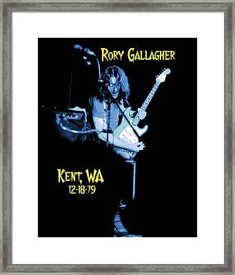 Framed Print featuring the photograph Rory Kent Blues by Ben Upham