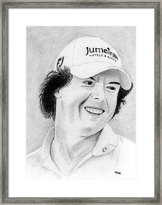 Rory Mcilroy Framed Print by Pat Moore