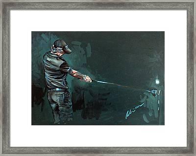 Rory Mcilroy Trick Shot 2010 Framed Print by Mark Robinson