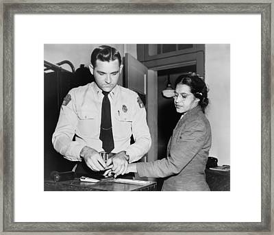 Rosa Parks 1913-2005, Whose Refusal Framed Print by Everett