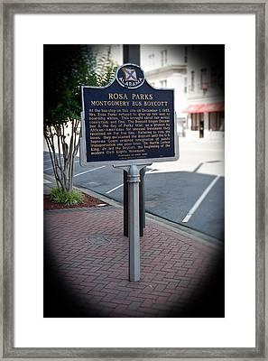 Rosa Parks Arrest Memorial Framed Print by Arnold Hence