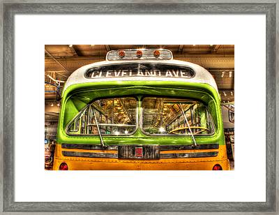 Rosa Parks Bus Dearborn Mi Framed Print