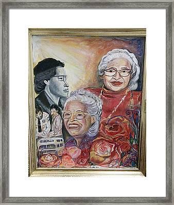 Rosa Parks Framed Print by Darlene Ricks- Parker