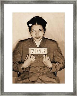 Rosa Parks Mugshot Framed Print