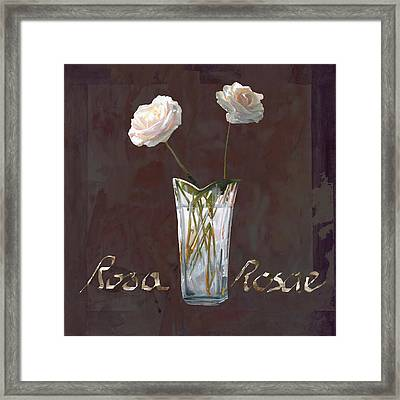 Rosa Rosae Framed Print by Guido Borelli