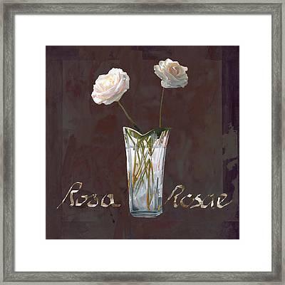 Rosa Rosae Framed Print