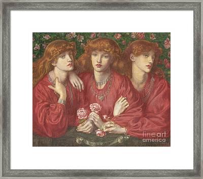 Rosa Triplex  A Triple Portrait Of May Morris Framed Print
