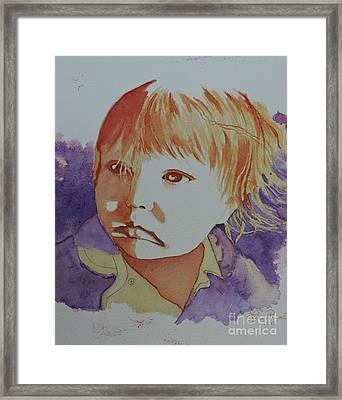 Rosalie 9 Mois Framed Print by Lise PICHE