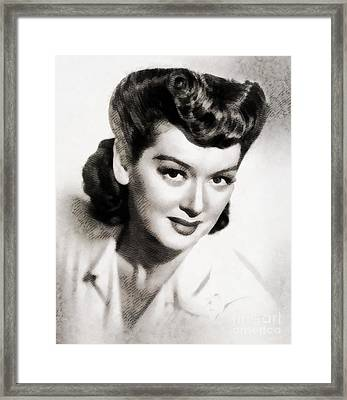 Rosalind Russell, Vintage Actress By John Springfield Framed Print