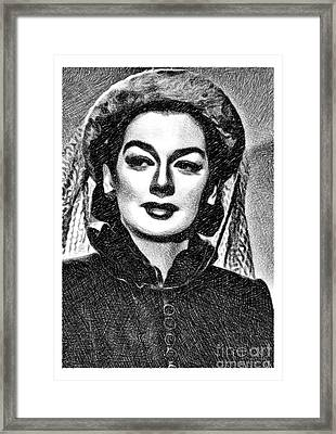 Rosalind Russell, Vintage Actress By Js Framed Print
