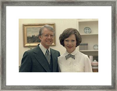 Rosalynn Carter And Jimmy Carter Framed Print by Everett