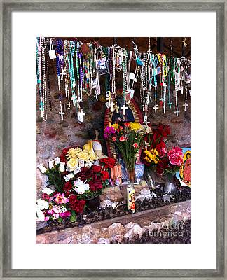 Rosaries And Flowers Framed Print by Matt Suess