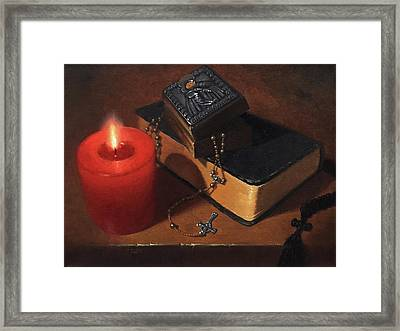 Rosary Meditation Framed Print by Timothy Jones