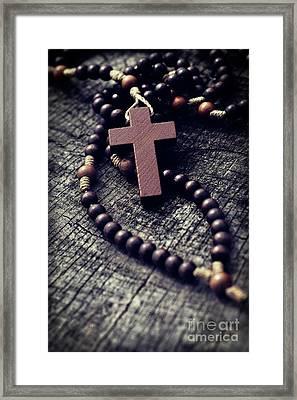 Rosary Framed Print by Mythja Photography