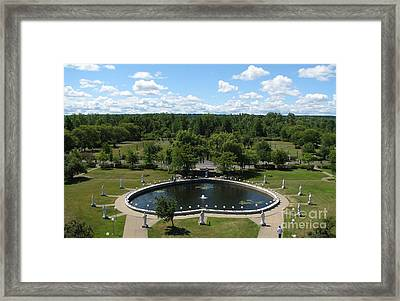 Rosary Pond At Our Lady Of Fatima Basilica Shrine In Lewiston New York Framed Print
