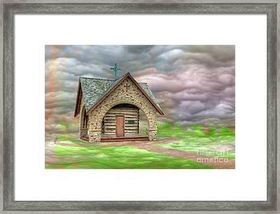 Rosati's Cabin Framed Print by Larry Braun