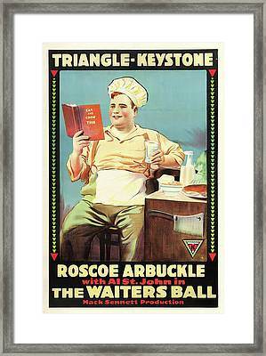 Roscoe Arbuckle In The Waiters Ball 1916 Framed Print by Mountain Dreams
