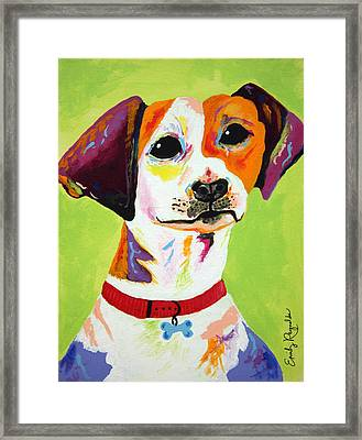 Roscoe The Jack Russell Terrier Framed Print by Emily Reynolds Thompson