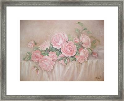 Rose Abundance Painting Framed Print