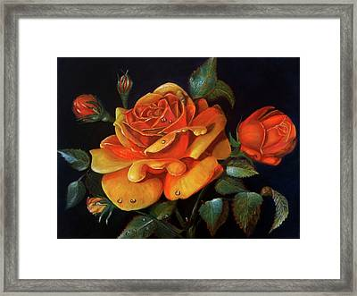 Rose Acrylic Painting Framed Print