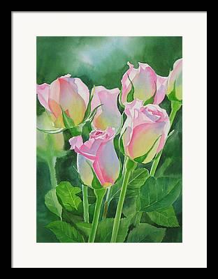 Rose Petals Paintings Framed Prints