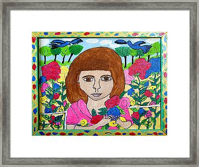 Rose Framed Print by Betty  Roberts
