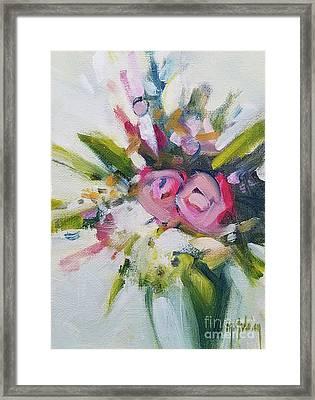Rose Bouquet Flower Color Spring Framed Print