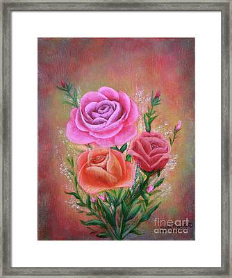Rose Bouquet Framed Print by Kristi Roberts