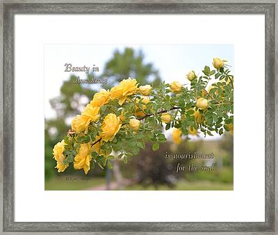 Rose Bower With Message Framed Print