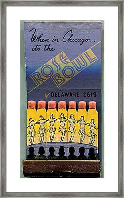 Rose Bowl Chicago Matches Framed Print