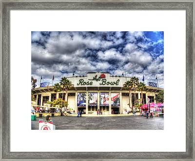 Rose Bowl Stadium Framed Print