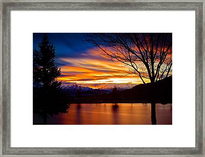 Rose Canyon Dawning Framed Print