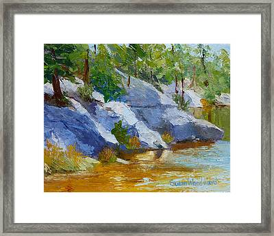 Rose Canyon Lake Framed Print