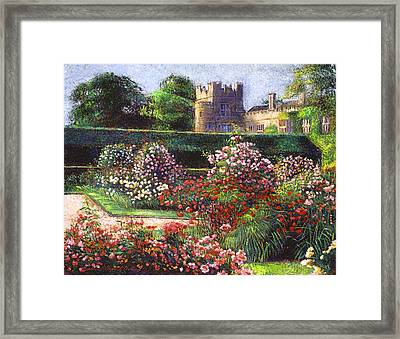 Rose Castle Framed Print by David Lloyd Glover
