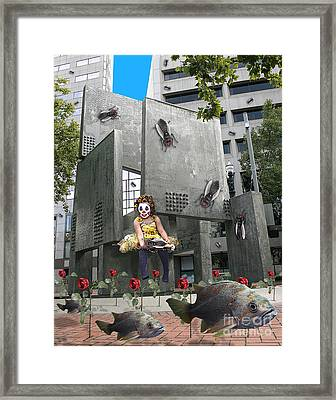 Rose City Framed Print by Keith Dillon