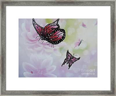 Rose Colored Glasses Framed Print by Dianna Lewis