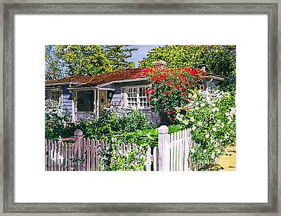 Rose Cottage  Framed Print by David Lloyd Glover