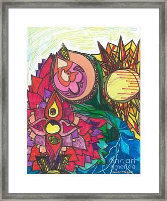 Rose Flowers Sun Sea Framed Print by Pamela Von Gizycki