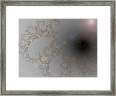 Rose Fractal Framed Print by Alexandra Mallory