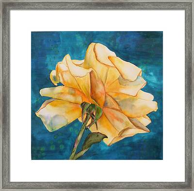 Rose From Behind Framed Print