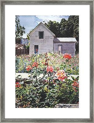 Rose Garden Framed Print by David Lloyd Glover