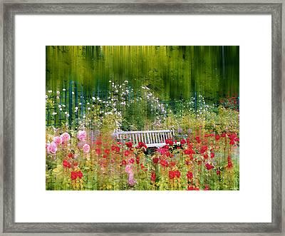 Rose Garden Impressions Framed Print by Jessica Jenney