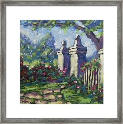 Rose Garden Framed Print by Richard T Pranke