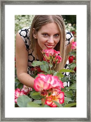 Rose Garden Framed Print by Sonja Anderson