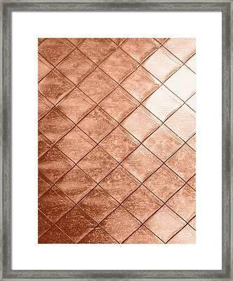 Rose Gold Crush Framed Print