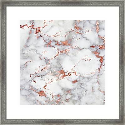 Rose Gold Marble 3 Framed Print