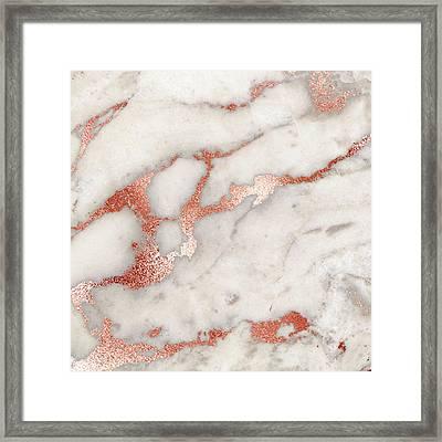 Rose Gold Marble 5 Framed Print
